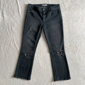 Free People straight cropped distressed jeans. 27